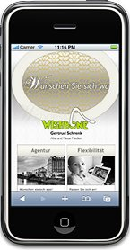 iphone mit wishbone Homepage